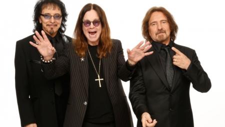 Tony Iommi, Ozzy Osbourne and Geezer Butler of Black Sabbath