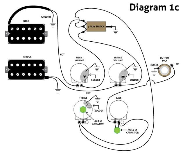 схемы для гитар с четырьмя