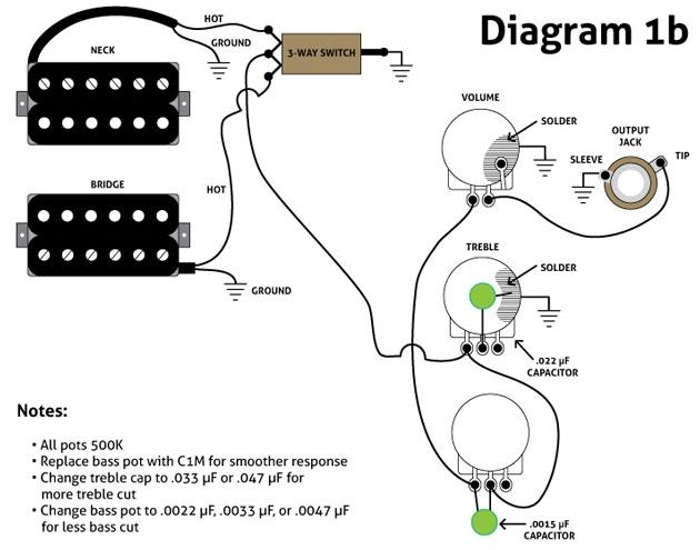 адаптация схемы для гитар