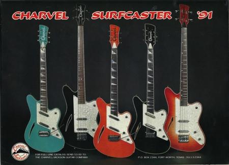 1991 Charvel Surfcaster Guitar & Bass
