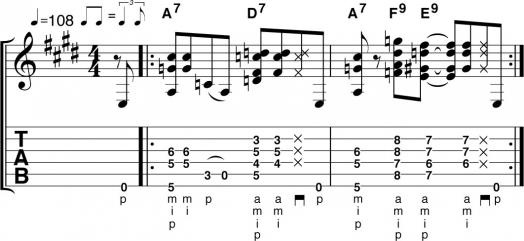 Блюзовые аккорды