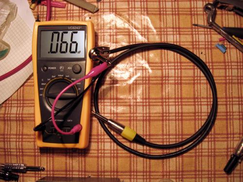Гитарный шнур - 1м, емкость