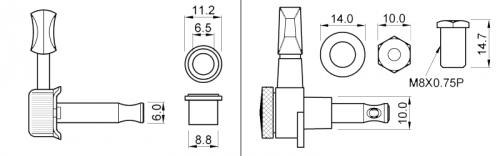 Основные диаметры гитарных колков. Их совместимость и взаимозаменяемость.