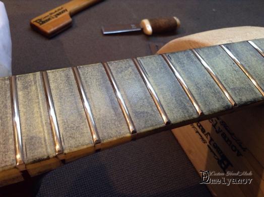 Шлифовка ладов. Ремонт гитар