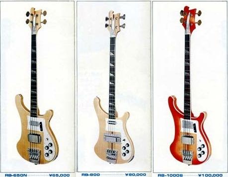 рико-пободные басы в каталоге Greco 1974 года