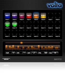 Motu Volta. Интерфейс