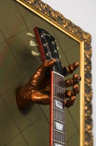 Guitar Frame With Guitar Grip