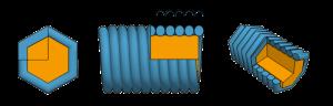 Струна в гексагональной оплетке. 3D модель