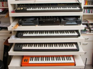 Moby Home Studio. Synths