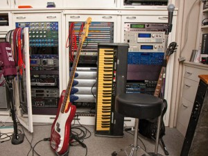 Moby Home Studio. Guitars