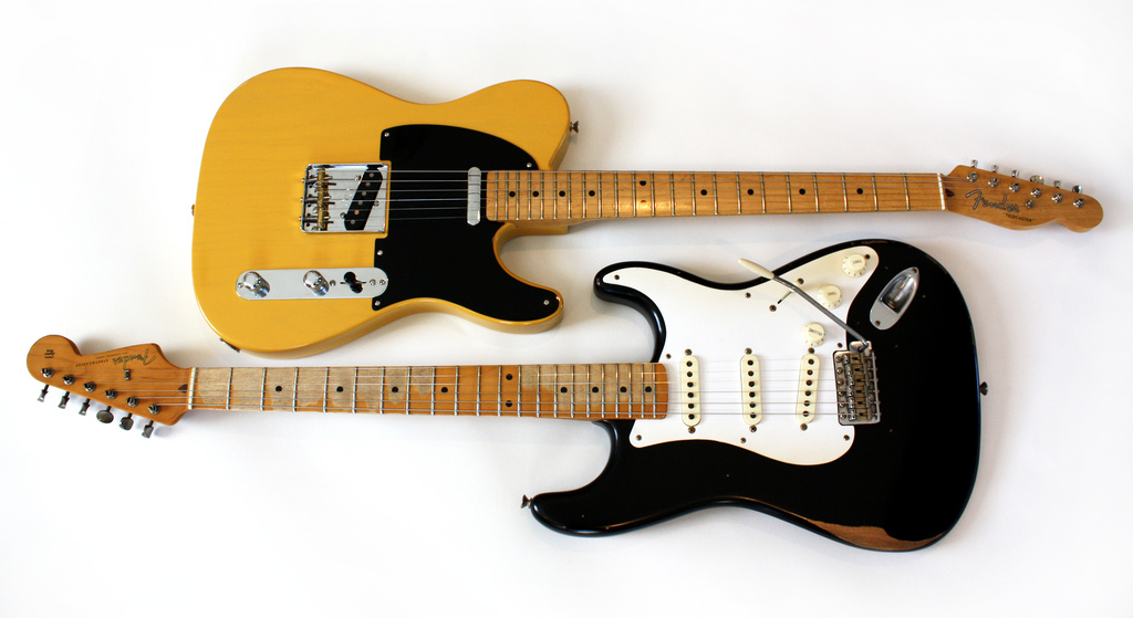 Fender Electric Poster Featuring The Photograph Bruce Springs 1953 Esquire Telecaster By Lisa Johnson